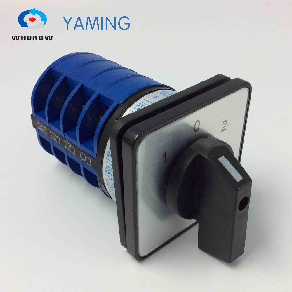 цена на Yaming electric YMW26-32/4 32A 4 poles 3 position control motor circuit Universal changeover rotary knob cam switch
