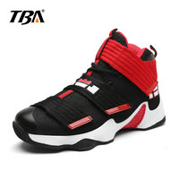 2019 TBA Men's Professional basketball shoes for Men Hook loop sneakers Man Add blue or yellow Replaceable insoles size 37 45