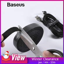 Baseus Cable Organizer USB Cable Winder For iPhone Lightning Micro Usb Type c Free Length Cable Clip Office Desktop Management cheap Nylon 0 5M 1M 2M 3M ACMGT wire organizer wire holder cable holder mouse wire holder cable protector mouse bungee wire clip
