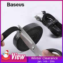 Baseus Cable Organizer przewód USB nawijak dla iPhone Lightning Micro USB typ c Free długość Cable Clip Office Management Desktop tanie tanio Nylon 0 5M 1M 2M 3M Organizator telewizji kablowej BASEUS (ang W ACMGT Organizator drutu Długość wolna Uchwyt drutu