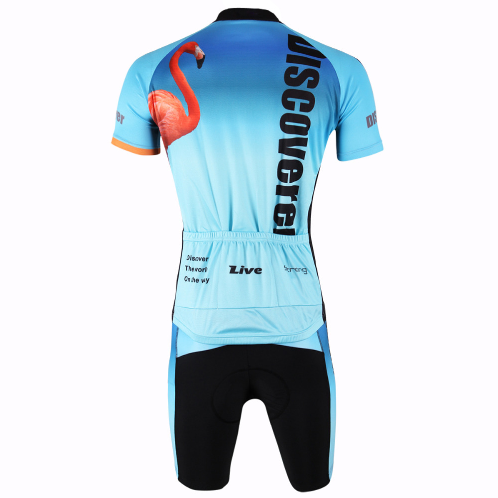 66f2728b9 Men Cycling Jersey Flamingo And Pelican Bicycle Sportswear Bike Men Cycling  Clothing Short Sleeve Cycling Jersey Set X302-in Underwear from Mother    Kids on ...