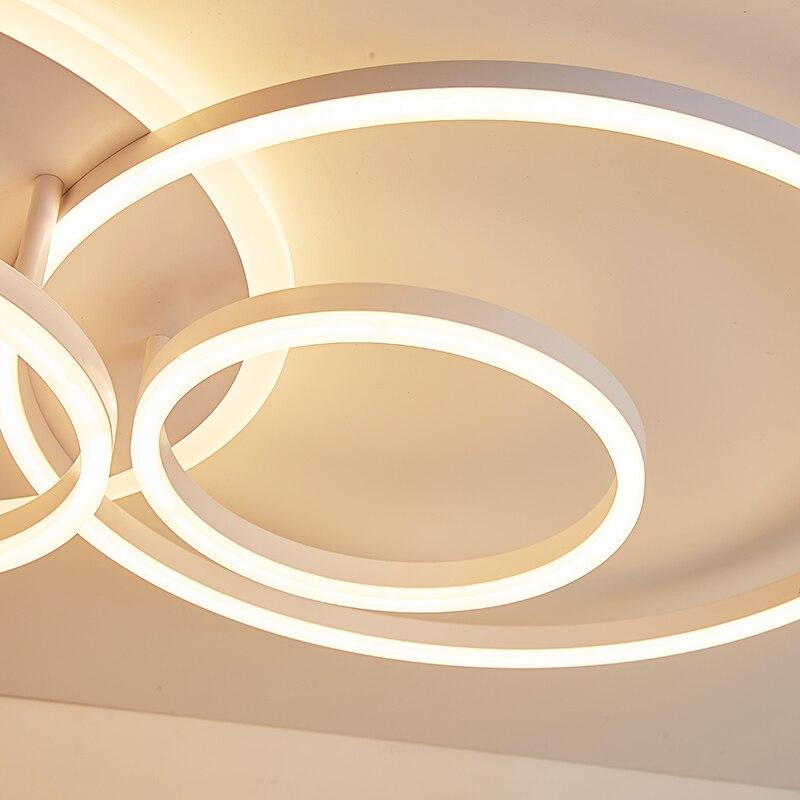 Yanghang acrílico moderno led luzes de teto para sala estar quarto plafon led casa iluminação da lâmpada do teto luminárias - 5