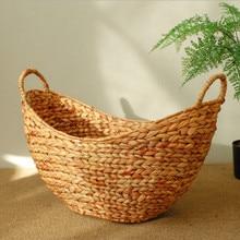 цены на Kids Laundry Basket With Handles Baskets Wicker Toys Storage Belly Basket Golden Dirty Clothes Basket Toy Organizer в интернет-магазинах