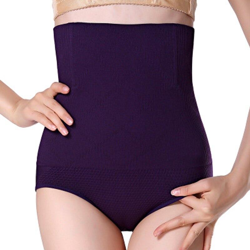 Mujeres de cintura alta de Control de abdomen cintura bragas talladora del cuerpo sin fisuras de la cintura del vientre del adelgazamiento pantalones bragas fajas faja ropa interior