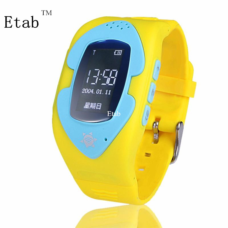 New fashion 2017 Etab Electronic ABS+Silicone GPS 3 colors SIM GSM Pedometer Monitor wristband for kids free shipping MTK6261