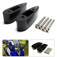 R25 R3 Motorcycle Mirror Riser Extenders Spacers Extension Adapter Adaptor Kit For Yamaha YZF R3 YZF