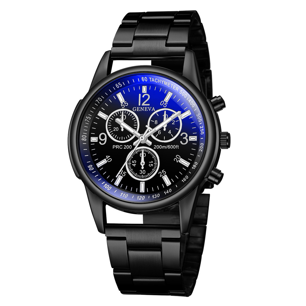 Quartz Watches 2019 New Geneva Men Fashion Military Stainless Steel Analog Date Sport Quartz Wrist Watch #ne0325 Latest Technology