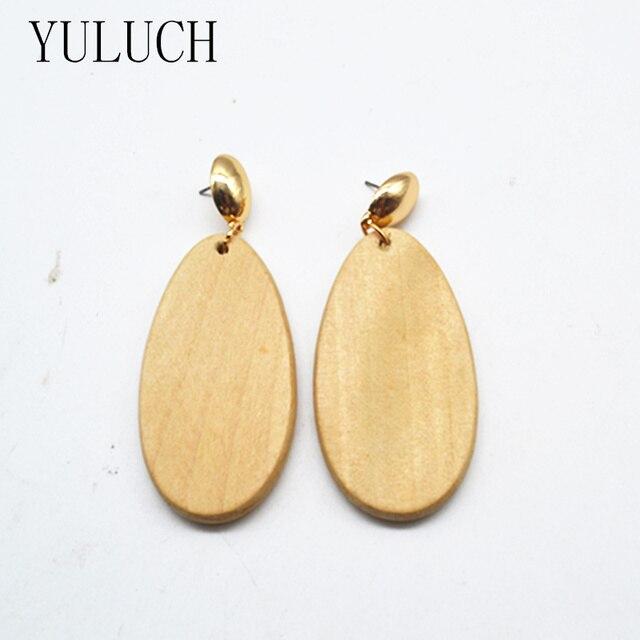 houten oorbellen vrouwen