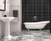 2017Hot! Бесплатная доставка. черный Керамика мозаика Кухня bathshower Poolwall камин фон Талия дома Artdecor, LSTC401