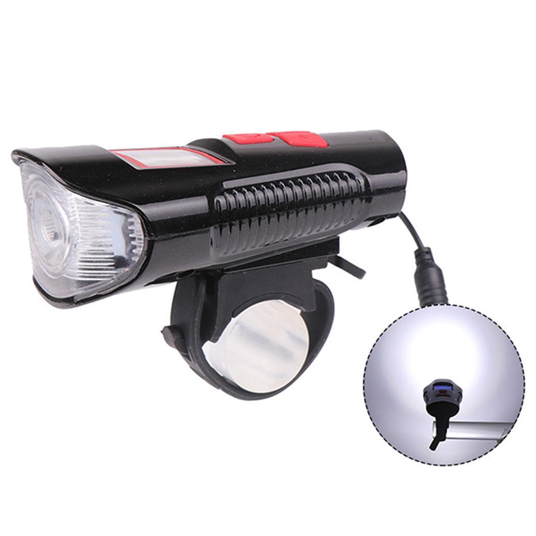 自転車ライトフロントリモートホーンスピードメータ自転車ヘッドライトサイクリングランタンベル懐中電灯 USB 充電式スピーカーライト -