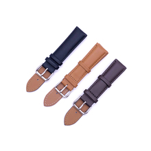 Watchbands Genuine Leather WatchBand Stainless Steel Buckle Clasp watch band leather strap 12 14  16 18 20 21 22 24mm цена в Москве и Питере