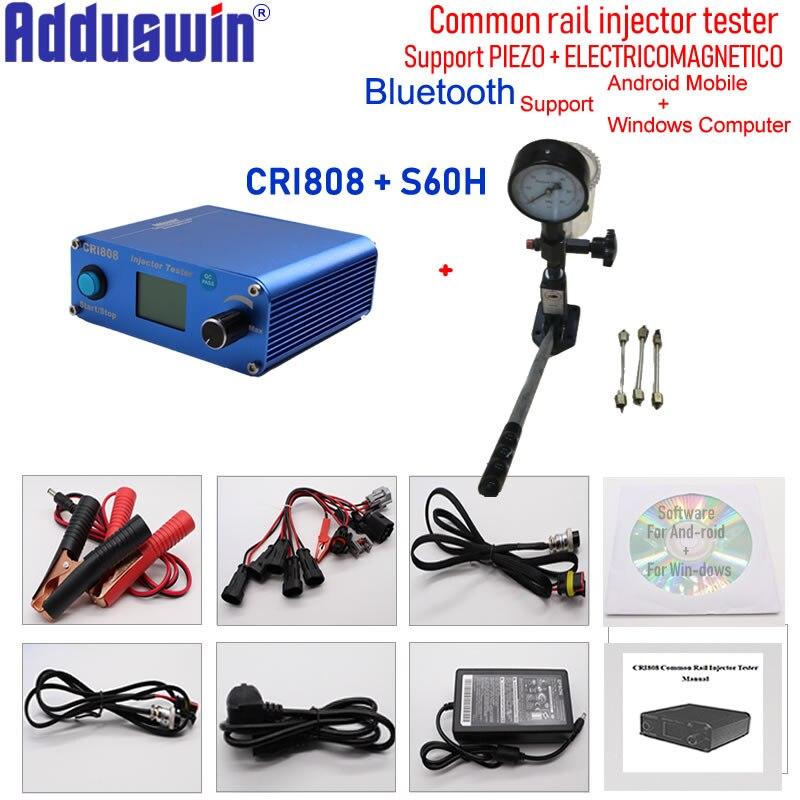 Combineren Cri808 Multifunctionele Diesel Common Rail Injector Tester Plus S60h Nozzle Validator Nozzle Tester