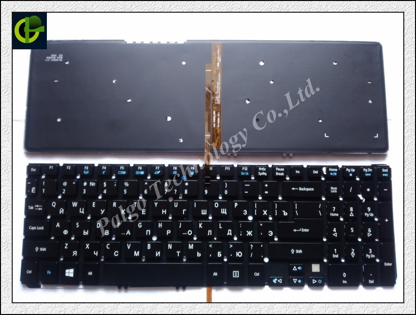 Russian Keyboard for Acer Aspire V5 V5-531 V5-531G V5-551 V5-551G V5-571 V5-571G V5-571P V5-571PG V5-531P BACKLIT RU Black цена