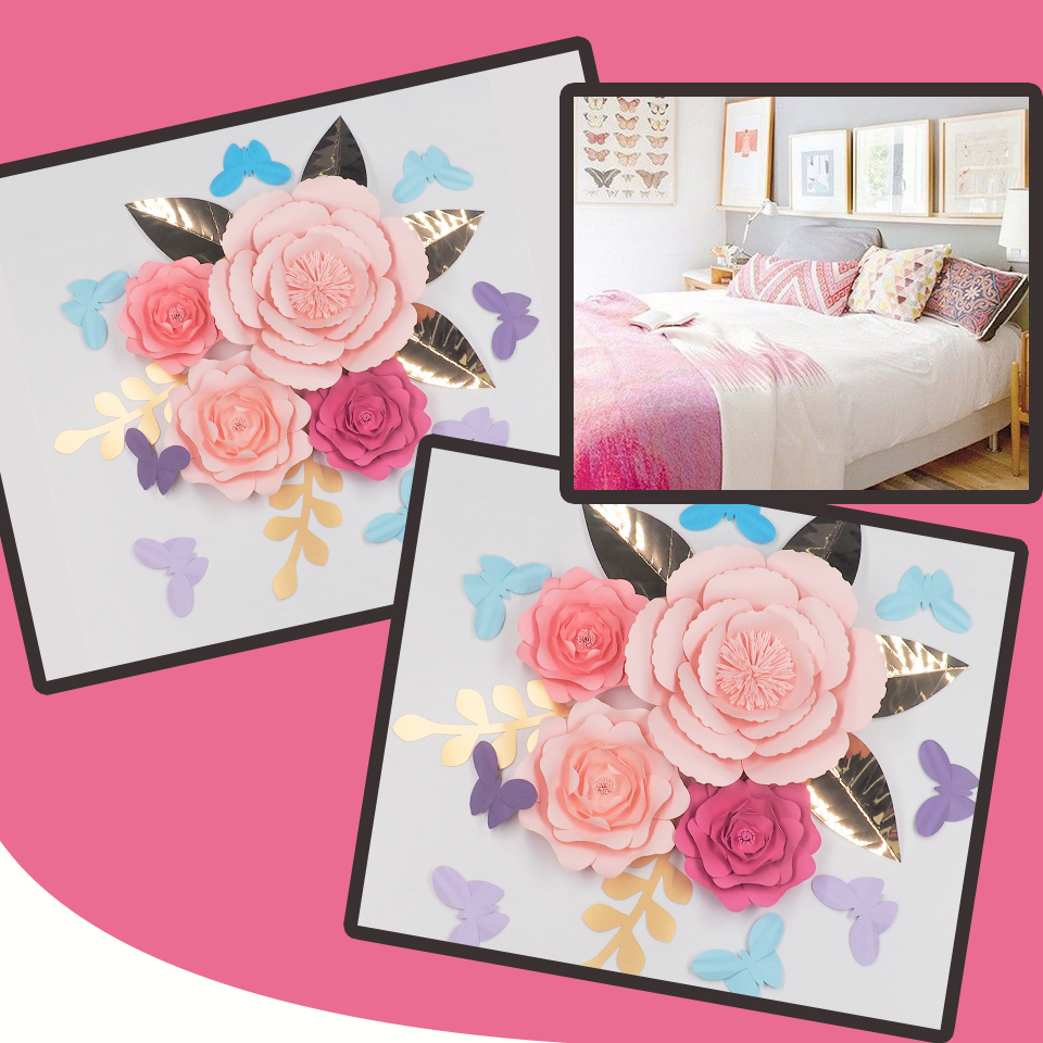 Paper Flower Backdrop For Nursery: DIY Giant Paper Flowers Backdrops 2018 Half Made Large