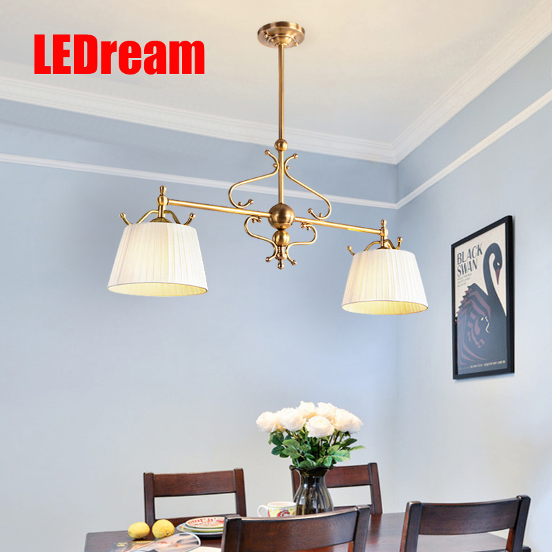 Restaurant meals American sitting room lamps  european-style full copper droplight dining room creative personality european restaurant bar counter personality single head droplight creative crystal glass chimney droplight sitting room
