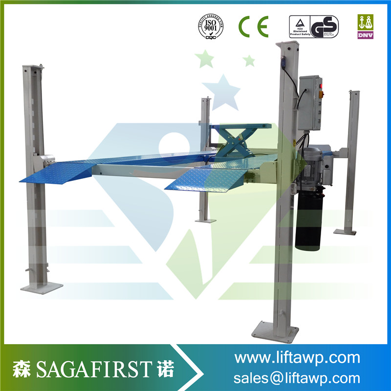 Cable-Drive Automatic Four Post Car Lift With Ce