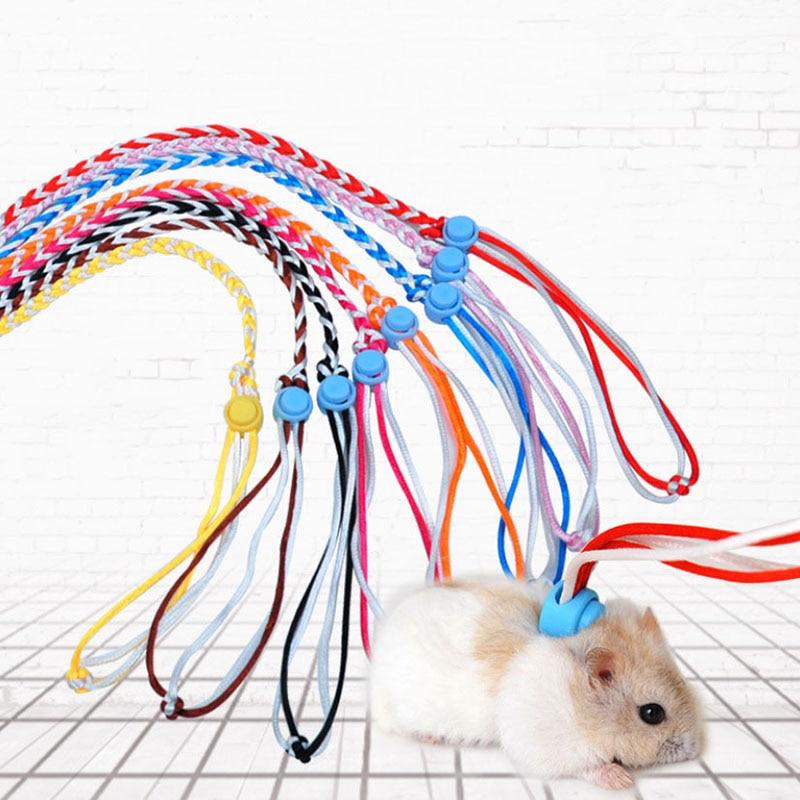 Adjustable Harness Leash Hamster Rat Mouse Squirrel Gerbil Glider Walking Toy