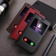Натуральная кожа чехол для Huawei Honor 9 Вид из окна Защитная крышка Magnetic Coque для Huawei Honor 9 Флип Чехол