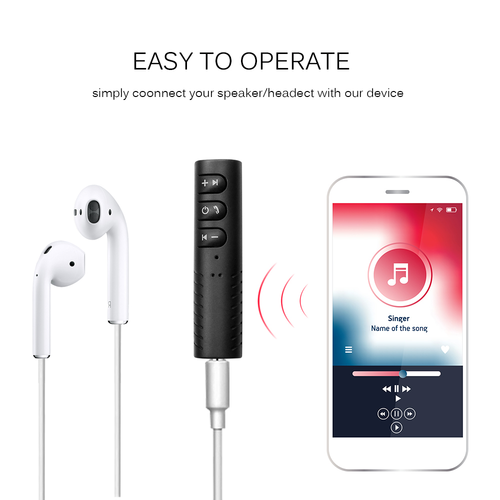 Wireless Bluetooth Aux Audio Receiver Adapter 4 1
