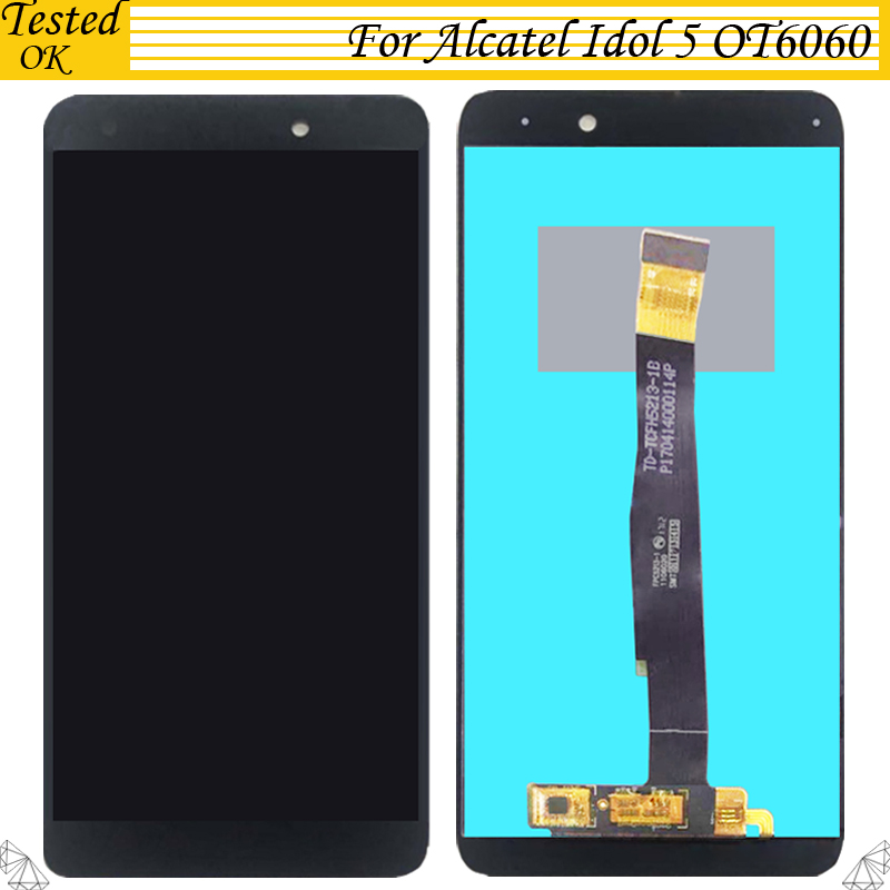 For Alcatel idol 5 OT6060 OT 6060 LCD Display Touch Screen Digitizer Tested Well Assembly Mobile Phone Repair Parts Replacement