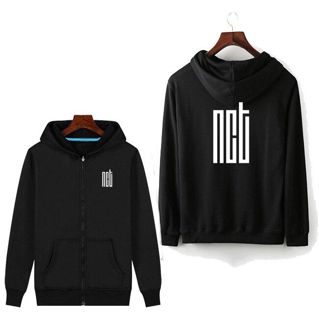 Zip bts NCT hoodies femmes zipper coréenne à capuche harajuku femmes vêtements streetwear d'hiver sweat à capuche 2019 femme polaire hoddies