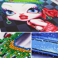 Cool Girls Cuadros Lienzos Decorativos Wall Stickers Special Shaped Diamond Painting Diamond Embroidery Stones Diamond Mosaic