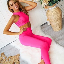 Fitness Clothing For Women Yoga Set Gym High Waist Sport Suit Workout Jogging Femme Clothes
