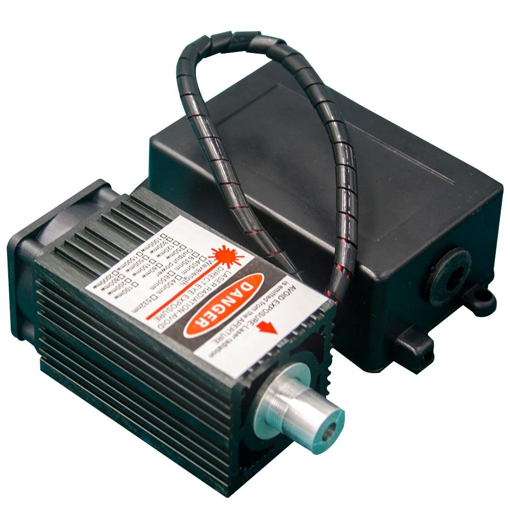 405nm 500 MW 12V High Power TTL Adjustable Focus Blue Laser Module DIY Laser Engraver Accessories 0.5W Laser Head