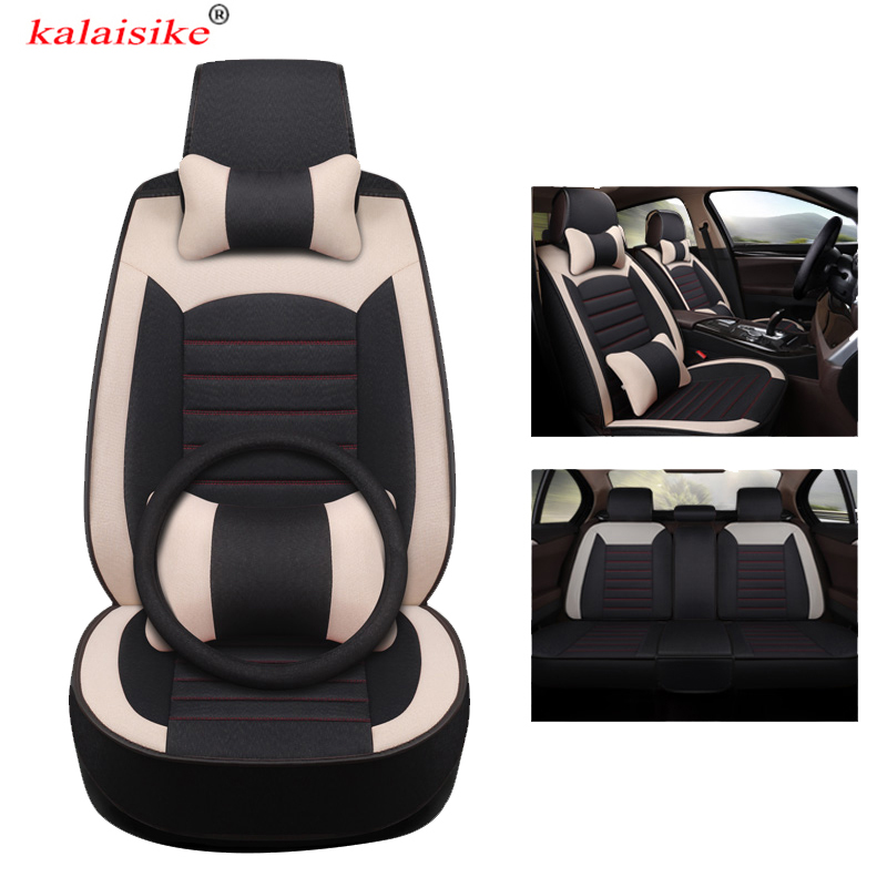 kalaisike universal Flax car seat covers for Volkswagen all models VW touareg touran Variant magotan polo golf JETTA passat