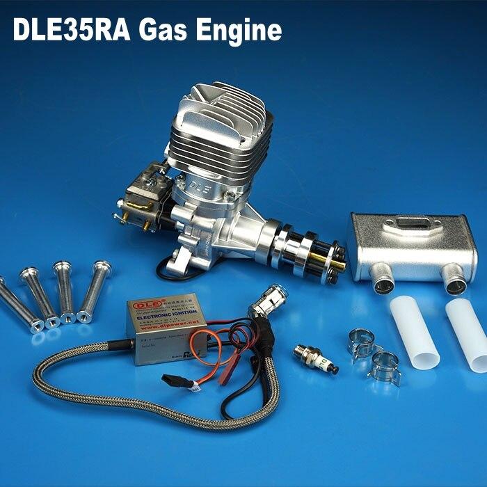 DLE محرك الغاز 100% الأصلي DLE35RA البنزين البنزين محرك DLE الخلفية المحرك ل RC طائرة نموذج شحن مجاني-في قطع غيار وملحقات من الألعاب والهوايات على  مجموعة 1