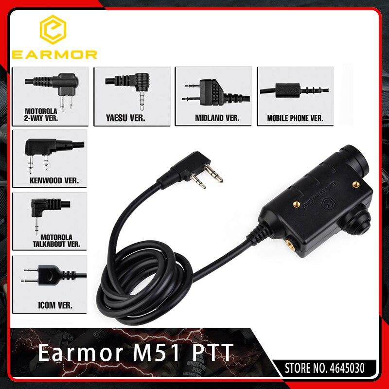 OPSMEN Earmor M51 PTT Kenwood Plugue Telefone
