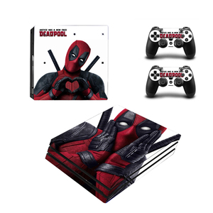 Image 5 - Deadpool Design Vinyl Skin Sticker Protector For Sony Playstation 4 Pro Console+2PCS Controller Skin Decal Cover For PS4 Pro