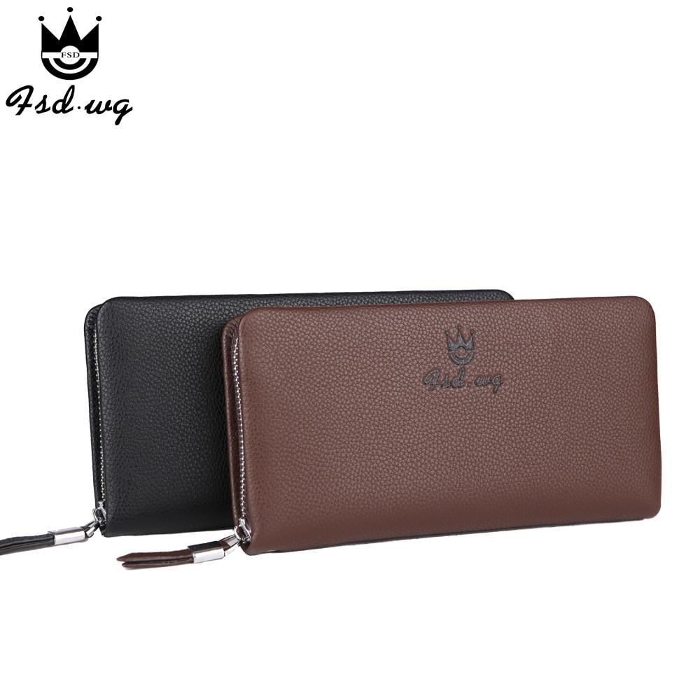 New men wallets soft leather long designer mens wallets casual men wallet clutch bag <font><b>purses</b></font> and handbags Monederos