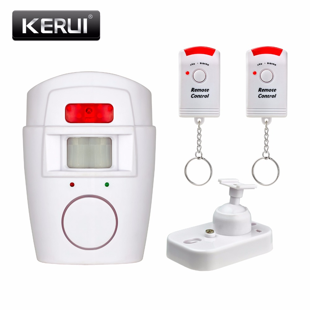 Low Price Home Security Pir Mp Alert Infrared Sensor Anti Theft Intruder Alarm Motion Detector Monitor Wireless System 2 Remote Controller