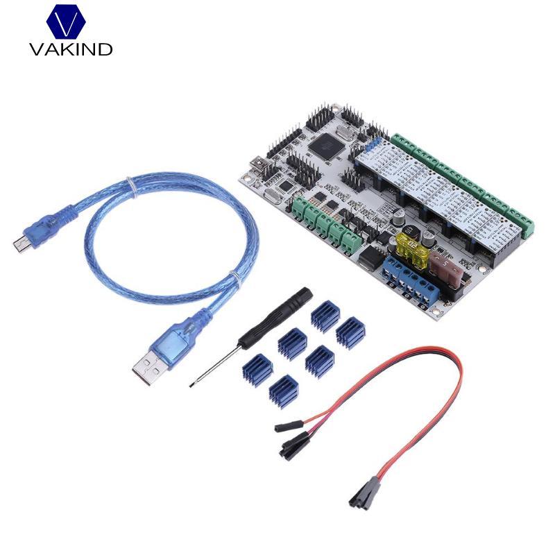 купить VAKIND Main Control Board Kit Rumba Plus Motherboard+TMC2130 V1.1+5*TMC2208 V1.0 Stepping Drivers & Cable For 3D Printer Parts недорого