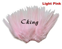 EMS Free Shipping 1kgs Light Pink Rooster Hackle Feather Strungs 12 15cm 5 6 chicken neck feather Trimming Rolls DIY accessory