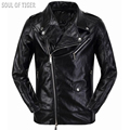 Punk Style Luxury Brand Clothing Men Biker Leather Jacket Veste Cuir Homme Man Slim Coats Jaqueta de Couro Motoqueiro Plus Size