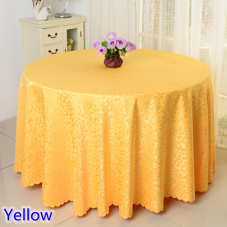 Yellow Colour Jacquard Table Cloth Damask Pattern Table Cover For Wedding  Hotel And Round Table Linen Decoration Wholesale In Tablecloths From Home U0026  Garden ...