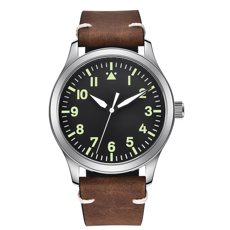 42 мм Мужские автоматические часы черный стерильный циферблат Miyota 821A Mov не сапфировое стекло часы Дата отрегулировать часы WCA2027SK