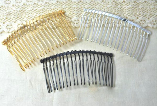 Wholesale 500pcs 5 Wire Combs 20 Teeth Bridal Wedding DIY Comb for crafting veils birdcage DHL