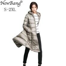 Newbangブランドロングダウンコート女性ダウン軽量ジャケット用女性羽コート冬ウインドブレーカー暖かいパーカー