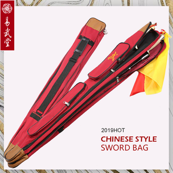Yiwutang tai chi bags Large Capacity Multifunction Sword Bags 1.1m Length double layer Taichi sword bags  Martial Arts Products stainless steel telescopic sword performance sword kung fu swords taiji martial art martial arts training telescopic sword