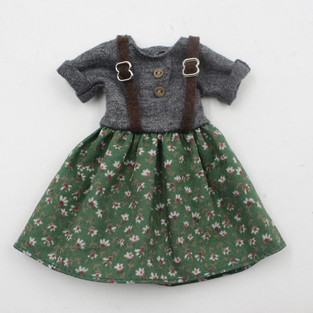 Neo Blythe Doll Floral Suspender Dress 6