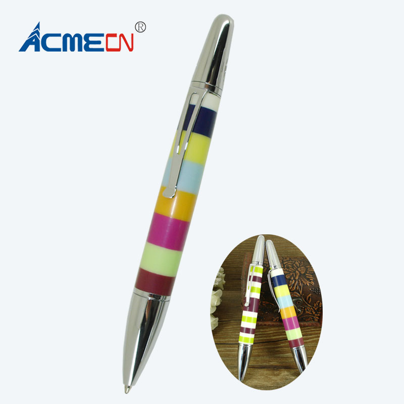 все цены на Colorful Rings Design Ballpoint Pen 44g Metal Heavy Pen Unique Capacitated Pens for Lady's Gifts Retractable Writing Instrument онлайн