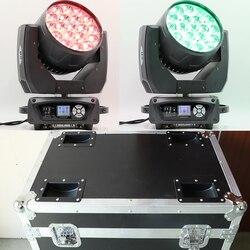 Caja de vuelo cabeza móvil zoom wash led 19x15w rgbw luz con cabezal móvil 19 ojos luz con cabezal móvil con CTO 2700 ~ 7200K y ECO