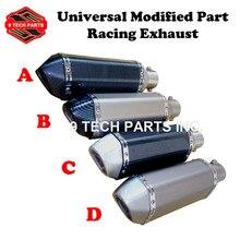 35-51 MM Modifizierte Motorrad Auspuff Schalldämpfer für akrapovic Auspuff Moto escape Universal Fit für die meisten motorrad ATV roller