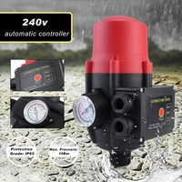 Professional Hydraulic Electronic System 0 10Bar Automatic Water Pump Controller Pressure Switch With Pressure Gauge
