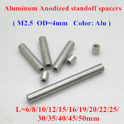 Parts /& Accessories 2019 New 20pcs M2.56 Aluminum Round Long Nut Standoff Spacer Model Aircraft with D=4mm Anodized Column