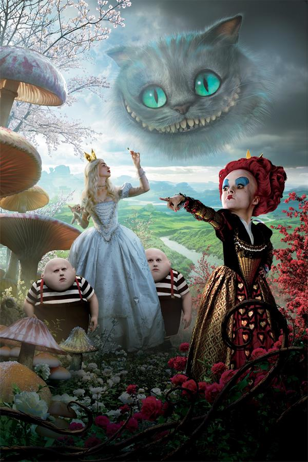 Custom Canvas Wall Decor Alice In Wonderland Poster Helena Carter Anne Hathaway Wallpaper The Red Queen Wall Stickers Decal #984