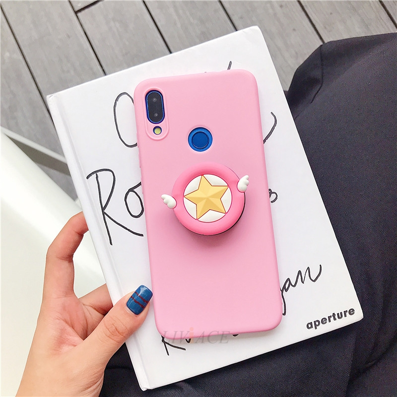 3D Cartoon Phone Holder Standing Case for Xiaomi Redmi Phone Made Of High-Quality Silicone And TPU Material 23